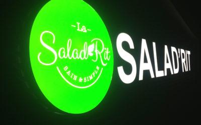 Fabrication enseigne la Salad'Rit